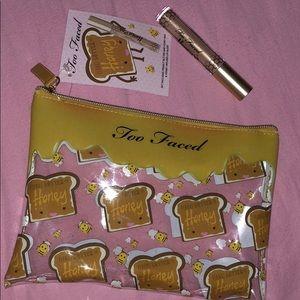 Too Faced PB&Honey Bag + Honey Infused Lip Gloss